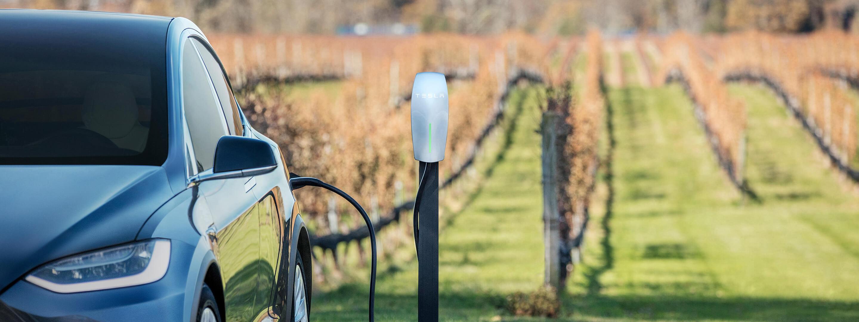 Tesla Charging at Sweet Basilico Estes Park Colorado
